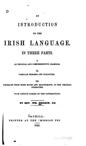An introduction to the Irish language by William Neilson