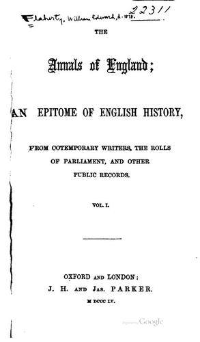 The annals of England by William Edward Flaherty