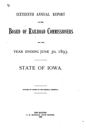 Annual report by Iowa. State commerce commision