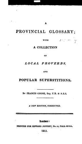 A provincial glossary