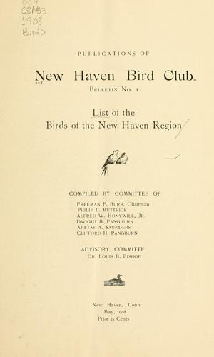 List of the birds of the New Haven Region by New Haven Bird Club.