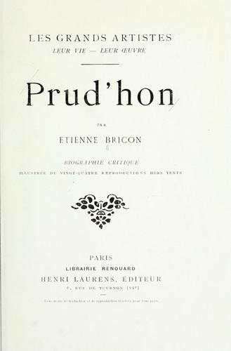 Prud'hon by Etienne Louis Marie Joseph Bricon
