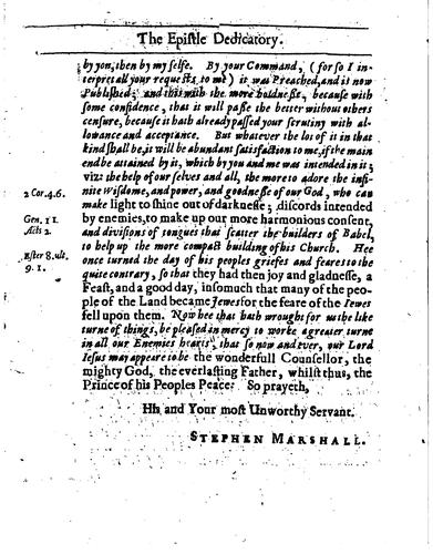 A sacred panegyrick, or by Stephen Marshall
