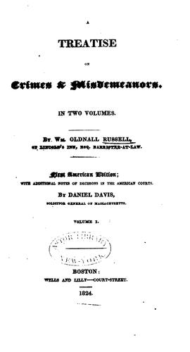 A treatise on crimes and misdemeanors.
