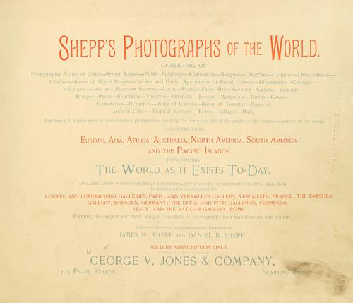 Shepp's photographs of the world by James W. Shepp
