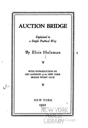 Auction bridge by Elsie Holzman