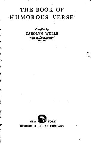 The book of humorous verse by Carolyn Wells