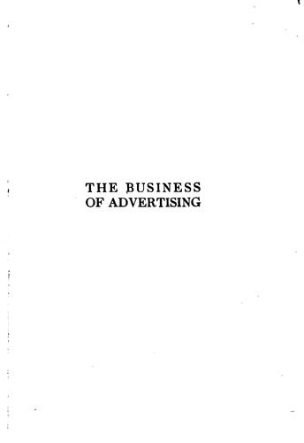 The business of advertising by Earnest Elmo Calkins
