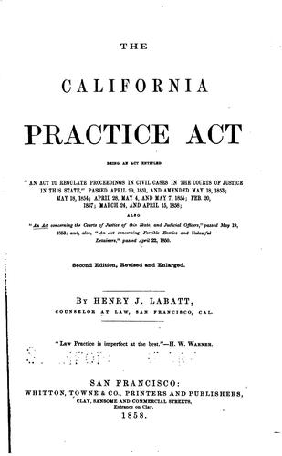The California practice act
