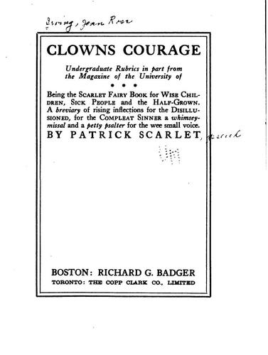 Clowns courage by Jean Ross Irvine