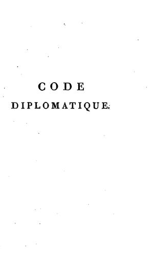 Code diplomatique by Louis Portiez