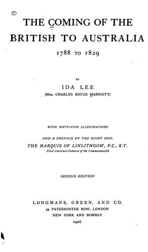 The coming of the British to Australia by Marriott, Ida (Lee) Mrs