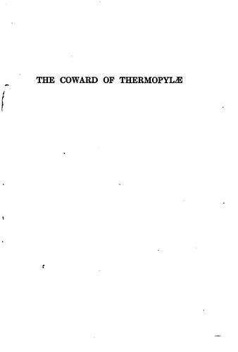 The coward of Thermopylæ by Caroline Dale Snedeker