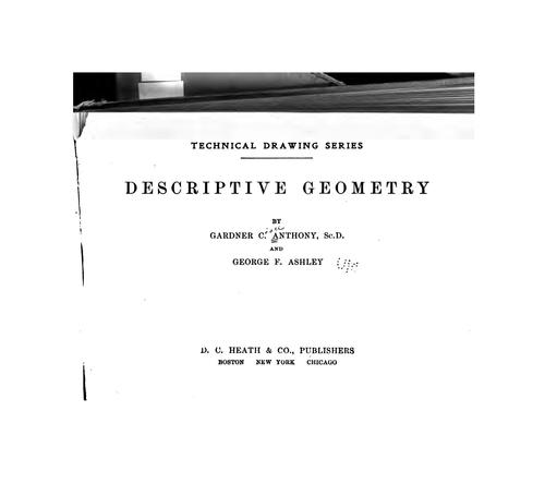 Descriptive geometry by Gardner Chace Anthony