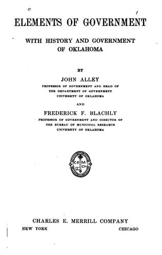 Elements of government by John Alley