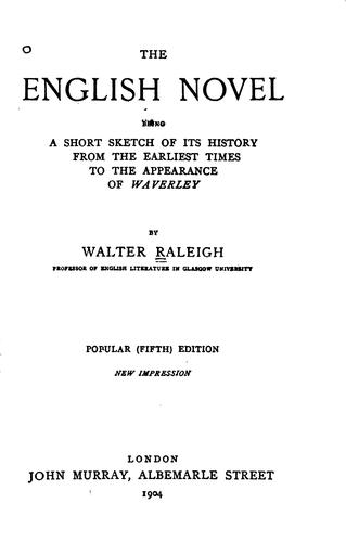 The English novel by Sir Walter Alexander Raleigh
