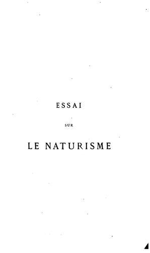 Essai sur le naturisme