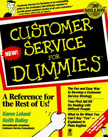 Customer service for dummies by Keith Bailey