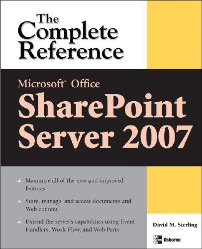 Microsoft® Office SharePoint® Server 2007 by David Sterling