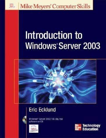 Introduction to Windows® Server 2003 by Eric Ecklund