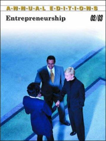 Annual Editions Entrepreneurship 02/03 by Robert W. Price