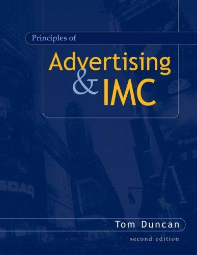 Principles of Advertising and IMC by Tom Duncan