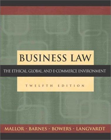 Business Law by Jane P. Mallor