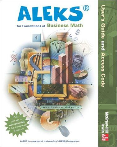 ALEKS for Foundations of Business Math User Guide (Aleks Worktext) by ALEKS Corporation