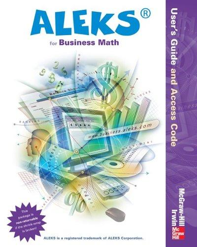 ALEKS for Business Math User Guide and Access Code Mandatory Package-Standalone by ALEKS Corporation