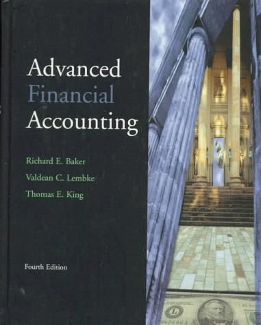 Advanced financial accounting by Baker, Richard E.
