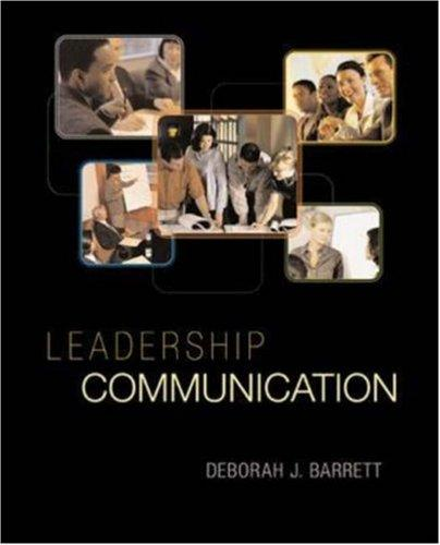 Leadership Communication (Titles in Business Communication) by Deborah Barrett