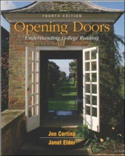Opening Doors with Free Student CD-ROM by Joe Cortina