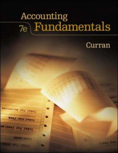 Accounting Fundamentals with Student CD ROM by Jr., Michael G. Curran