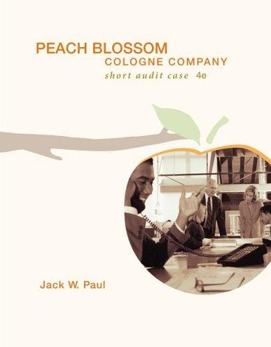 Peach Blossom Cologne Company with CD by Jack W Paul