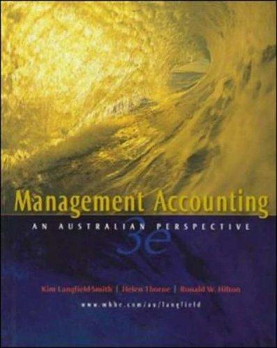 Management Accounting by Langfield-Smith