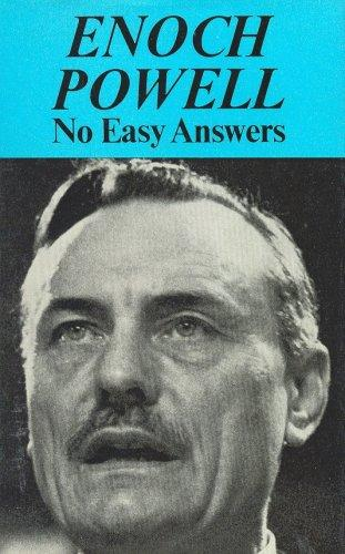 No easy answers by J. Enoch Powell