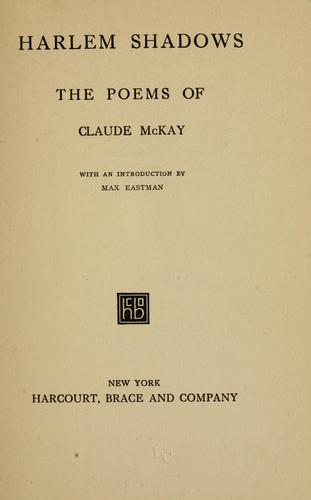 Harlem shadows by Claude McKay
