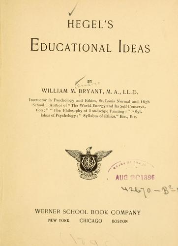 Hegel's educational ideas