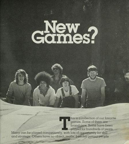 The new games book by New Games Foundation.