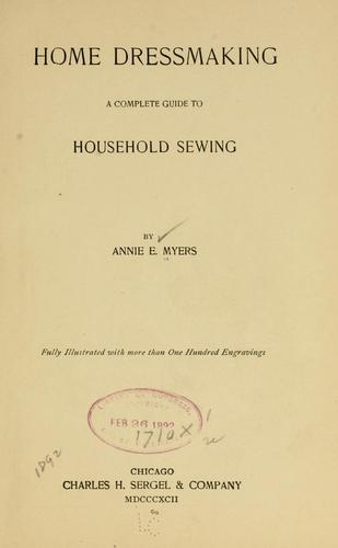 Home dressmaking by Annie E. Myers