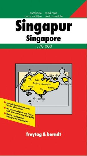 Singapore and Singapore City Map by Freytag & Berndt