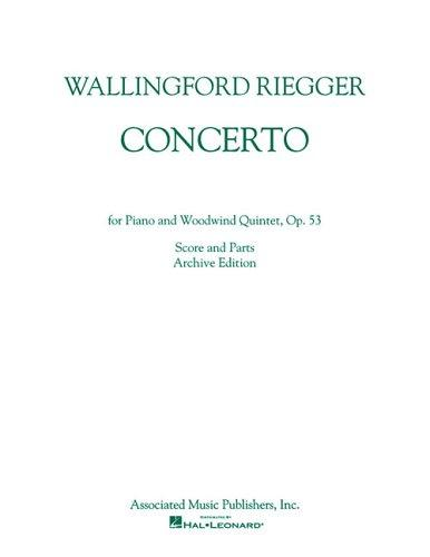 Concerto for Piano and Woodwind Quintet, Op. 53 by Wallingford Riegger