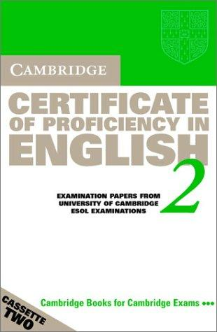 Cambridge Certificate of Proficiency in English 2 Audio Cassette Set by University of Cambridge Local Examinations Syndicate