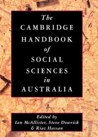 The Cambridge handbook of the social sciences in Australia by