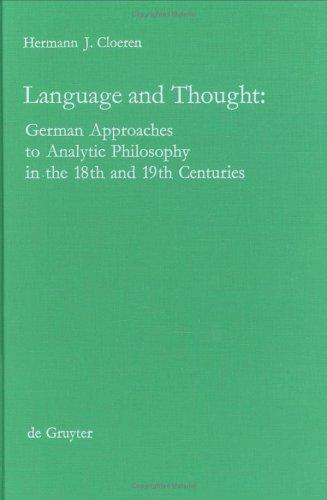 Language/Thought (Collection Notre Patrimoine National) by Hermann J. Cloeren