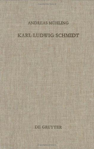 Karl Ludwig Schmidt by Andreas Mühling