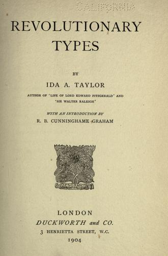 Revolutionary types by Taylor, Ida A.