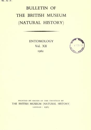 Bulletin of the British Museum (Natural History) by