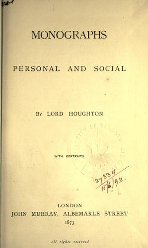 Monographs personal and social.