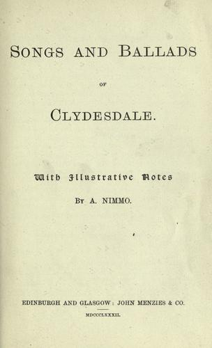 Songs and ballads of Clydesdale by